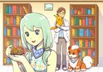 Wendy trades Pikachu for Bulbasaur by winterglitter