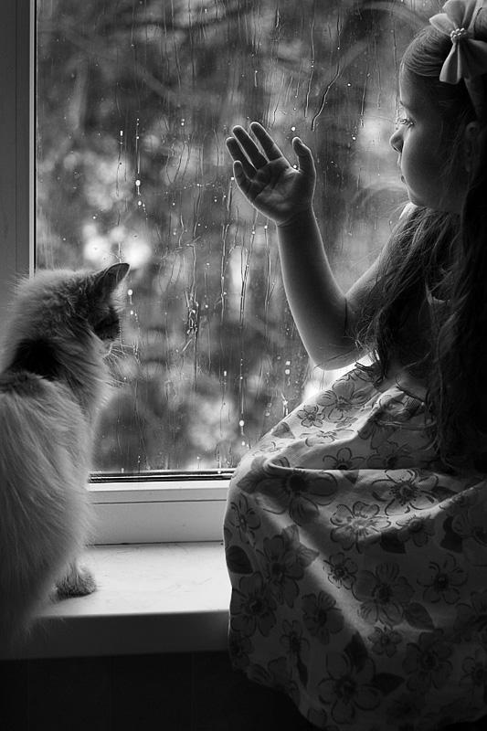 When behind a window a rain... by mechtaniya