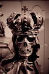 skull on casket