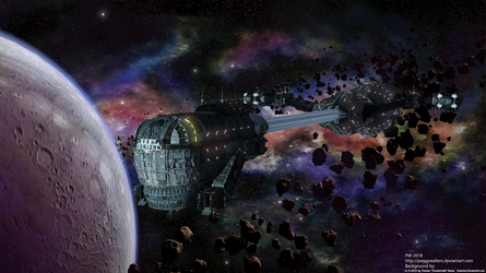 Event Horizon dangerous orbit by PeggyWalters