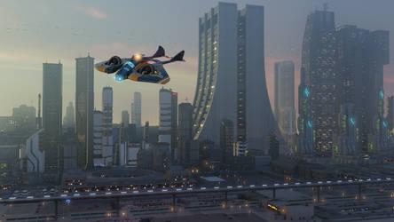 Cyberpunk city contest entry #2