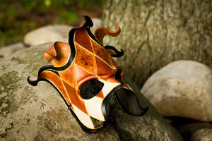 Handmade Leather Jester Mask by OsborneArts