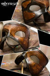 Steampunk Rose Leather Mask