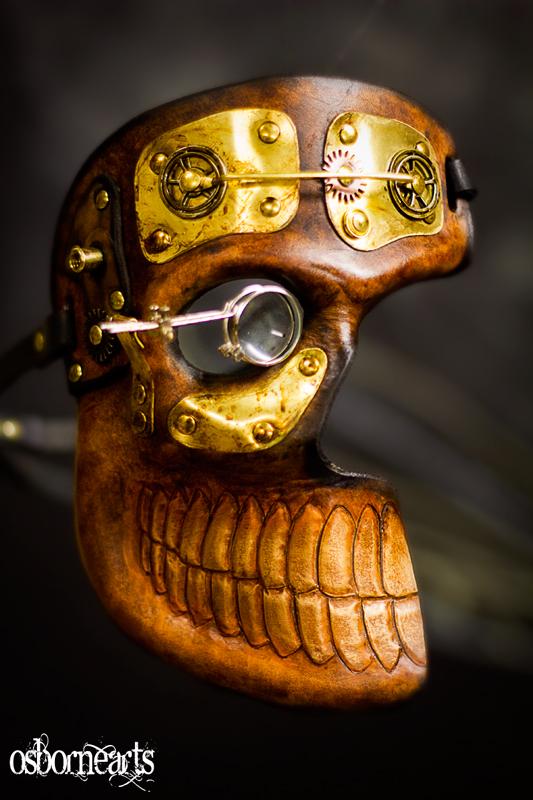 2-3rd Skull Leather Steampunk by OsborneArts