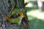Green and Yellow Leaf Mask