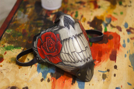 Rose and Teeth Motorcycle Mask