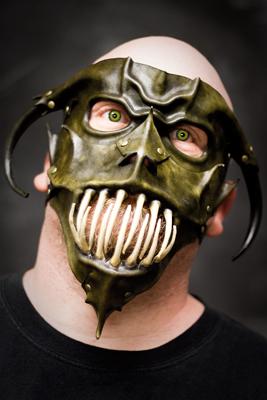 Leather Gargoyle Mask Combo by OsborneArts