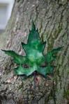 Green Sugar Maple Leaf Mask