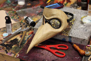 Plague Doctor Distressed Mask by OsborneArts