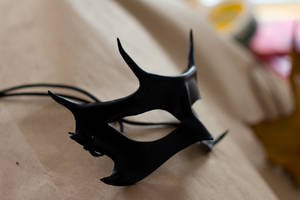 Black Horned Leather Mask by OsborneArts