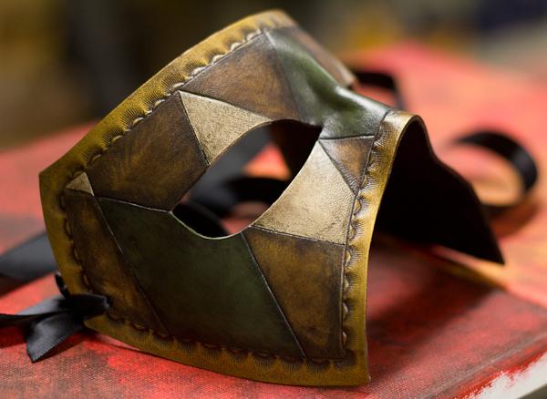 Handmade Leather Mask by OsborneArts