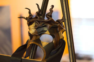 Twisted Jester Leather Mask by OsborneArts