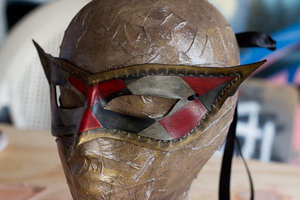 Harlequinn Masquerade Leather Mask by OsborneArts