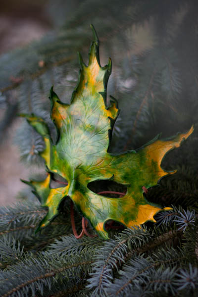 Handmade Silver Maple Leaf Mask by OsborneArts