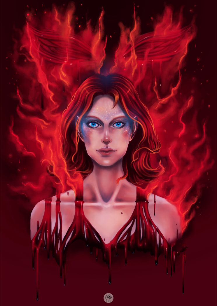 Blood Red Sky Blue