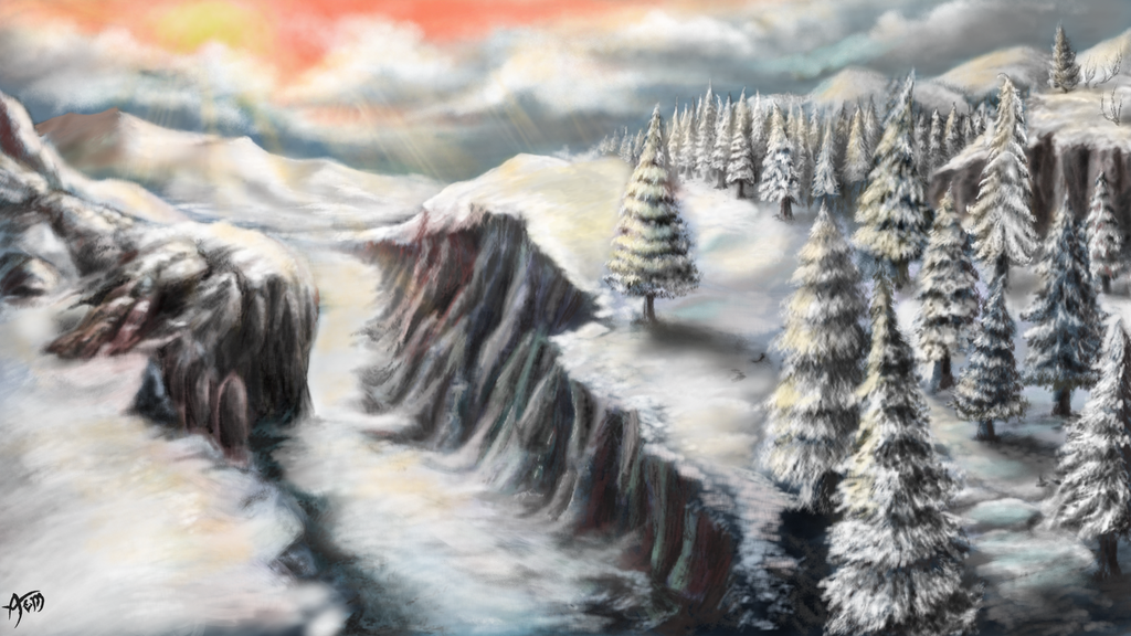 Frozen Valley by Mythic-Artspace