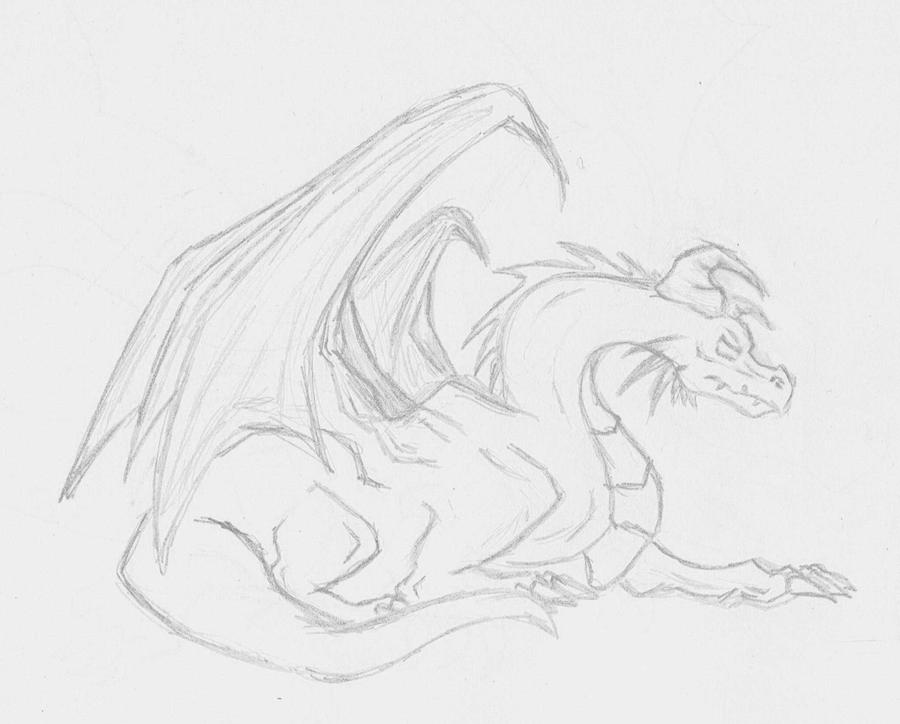 Dragon sketch by SWJediKnight