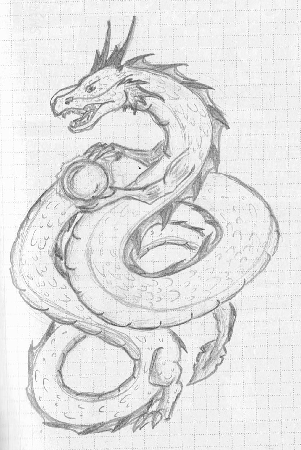 chinese dragon sketch by swjediknight watch traditional art drawings ... Easy Chinese Dragon Sketch