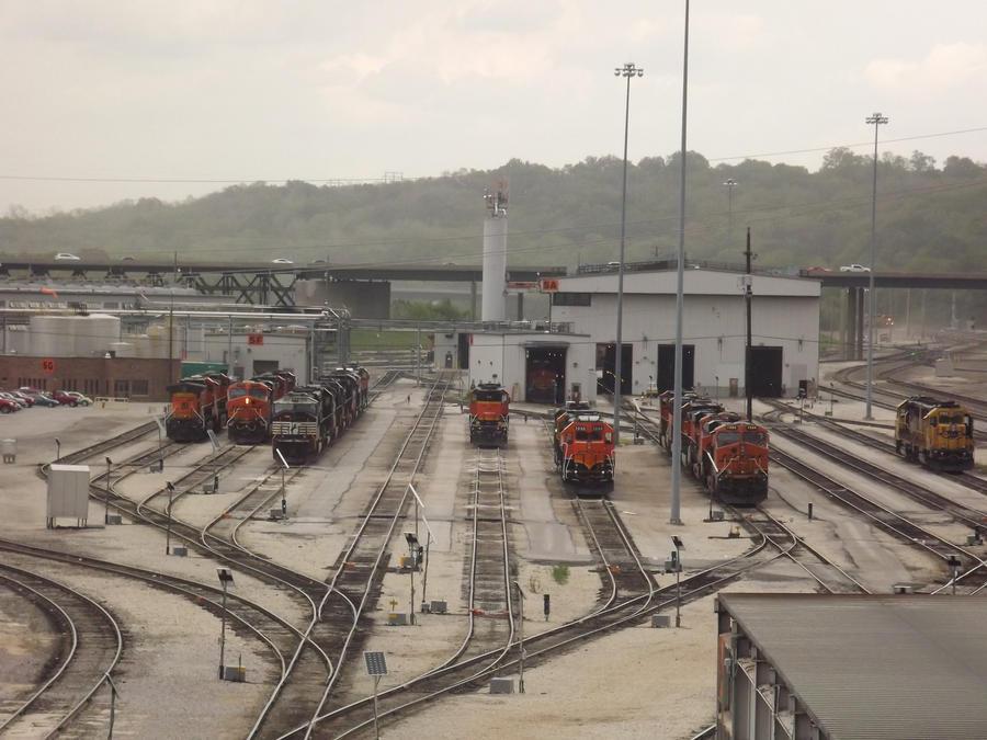 BNSF Argentine Yard by metalheadrailfan