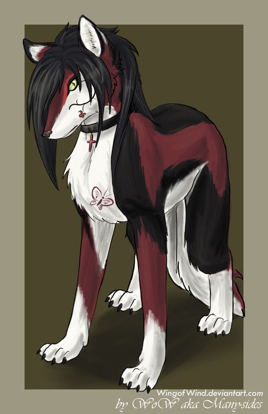 """Ember """"Shiroshii"""" Delacroix __A_wolf_with_two_tails___by_WingOfWind"""