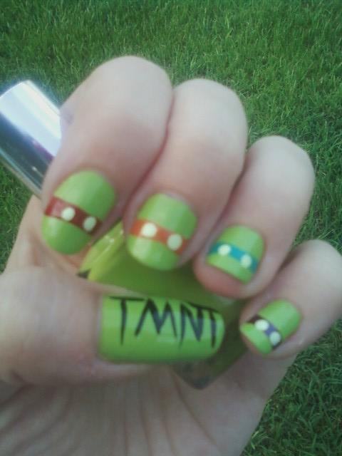 Ninja Turtle Nail Art by MissDaniLips