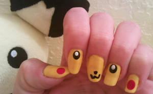 Pikachu Nail Art by MissDaniLips