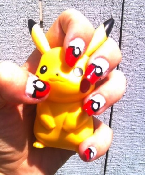 Pokeball Nail Art - Flushed by MissDaniLips