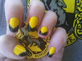 Hufflepuff Nail Art by MissDaniLips