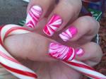 Peppermint Swirl Nails