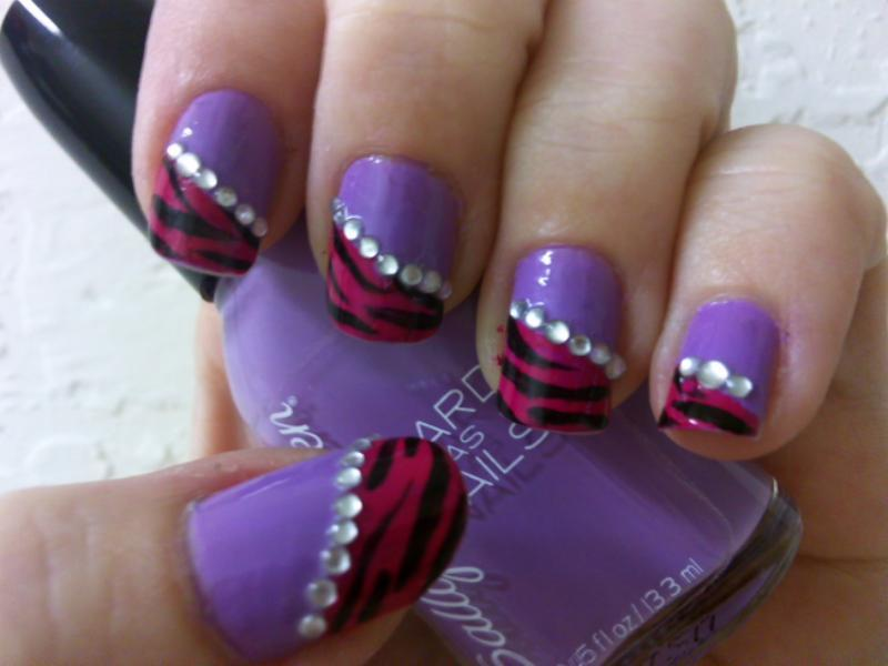 Girly Tiger Nail Art by MissDaniLips on DeviantArt