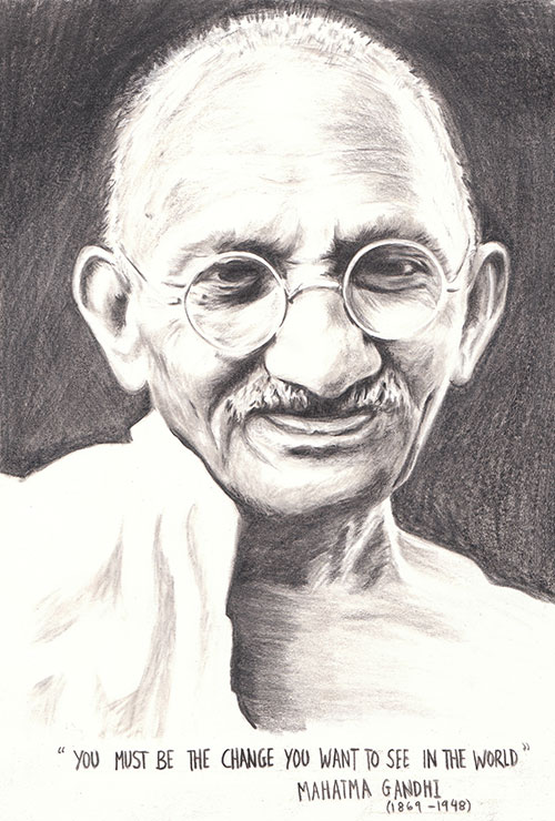 Mahatma Gandhi Portrait by reesmeister