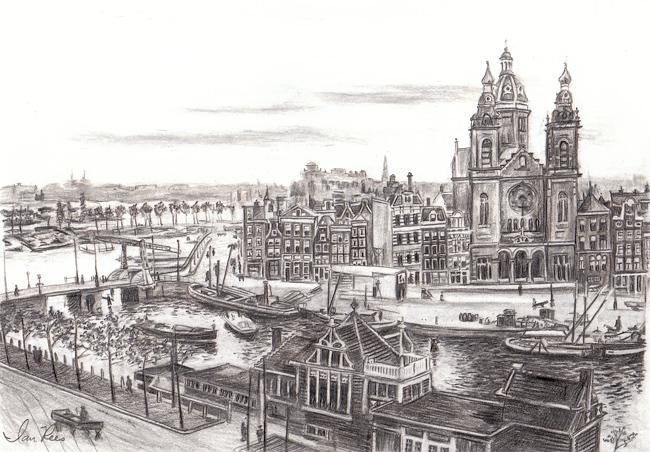St. Nicolas Kerk Harbor View by reesmeister
