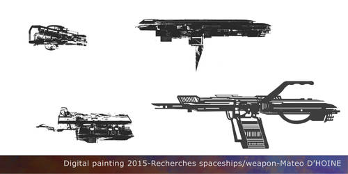 Recherches Spaceships Weapon Design by Toufsteak