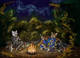 Wolfy Campfire