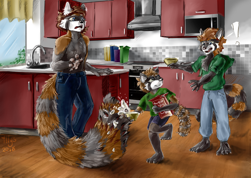 TriCoon - Tristan and the kitchen mischief by Illys