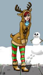 Reindeer Hoodie by Megaseven