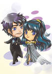 Chibi Comm: The King and The Princess by CatSummoner