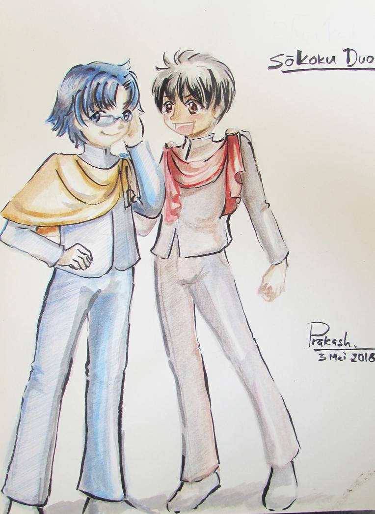 Fan art - Soukoku Duo by CatSummoner