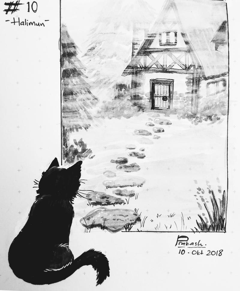 INKTOBER: Day 10 - Halimun by CatSummoner