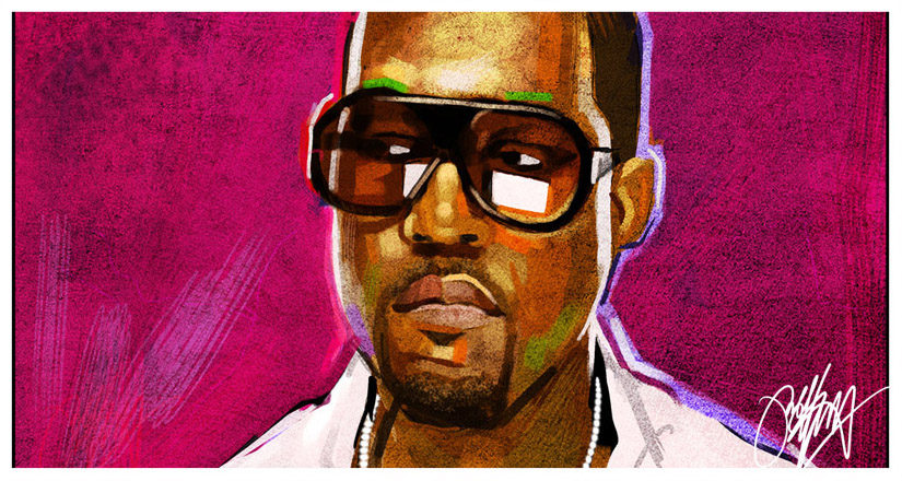 Kanye West Hip Hop Painting by kyle-lambert