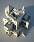 Escher_ AscendingDescending _ 3D Model by Blastebird