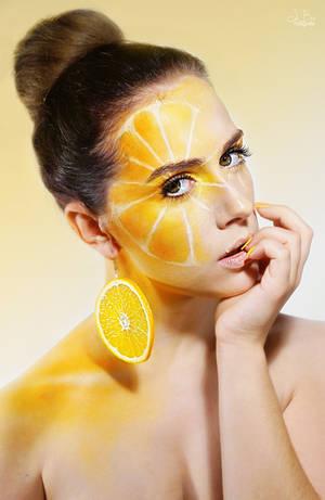 the orange (extreme make up) by TheBizarreBirdcage