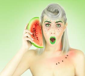 Watermelon- phone by TheBizarreBirdcage
