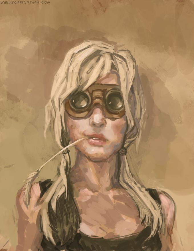 Girl in Gogs by ChrisReach