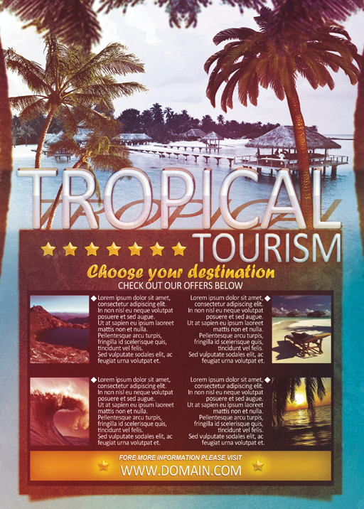Tropical Tourism Flyer Template By VectorMediaGR On DeviantArt - Tourism flyer template