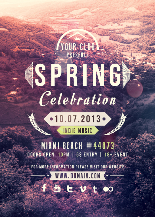 Spring Celebration  Flyer Template By Vectormediagr On Deviantart
