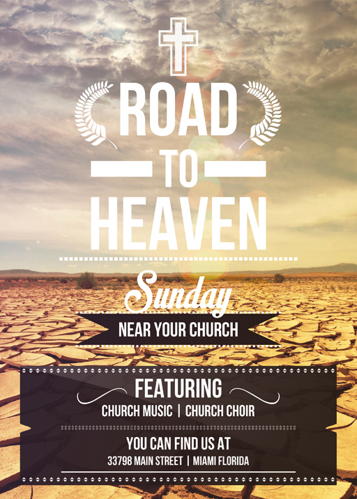 Road To Heaven Flyer Template By Vectormediagr On Deviantart