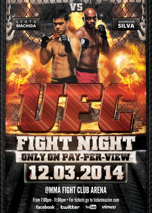 Ufc Fight Night  Flyer Template By Vectormediagr On Deviantart