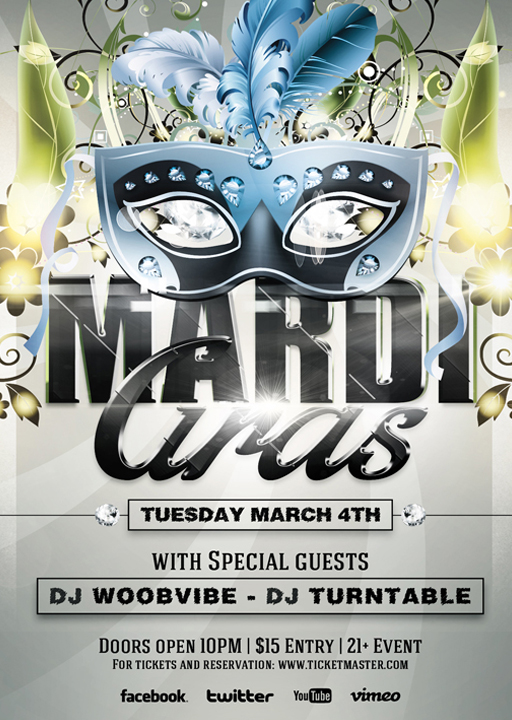 Mardi Gras Flyer Template By Vectormediagr On Deviantart