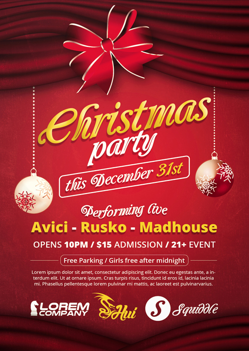 Christmas Party - Flyer by VectorMediaGR on DeviantArt